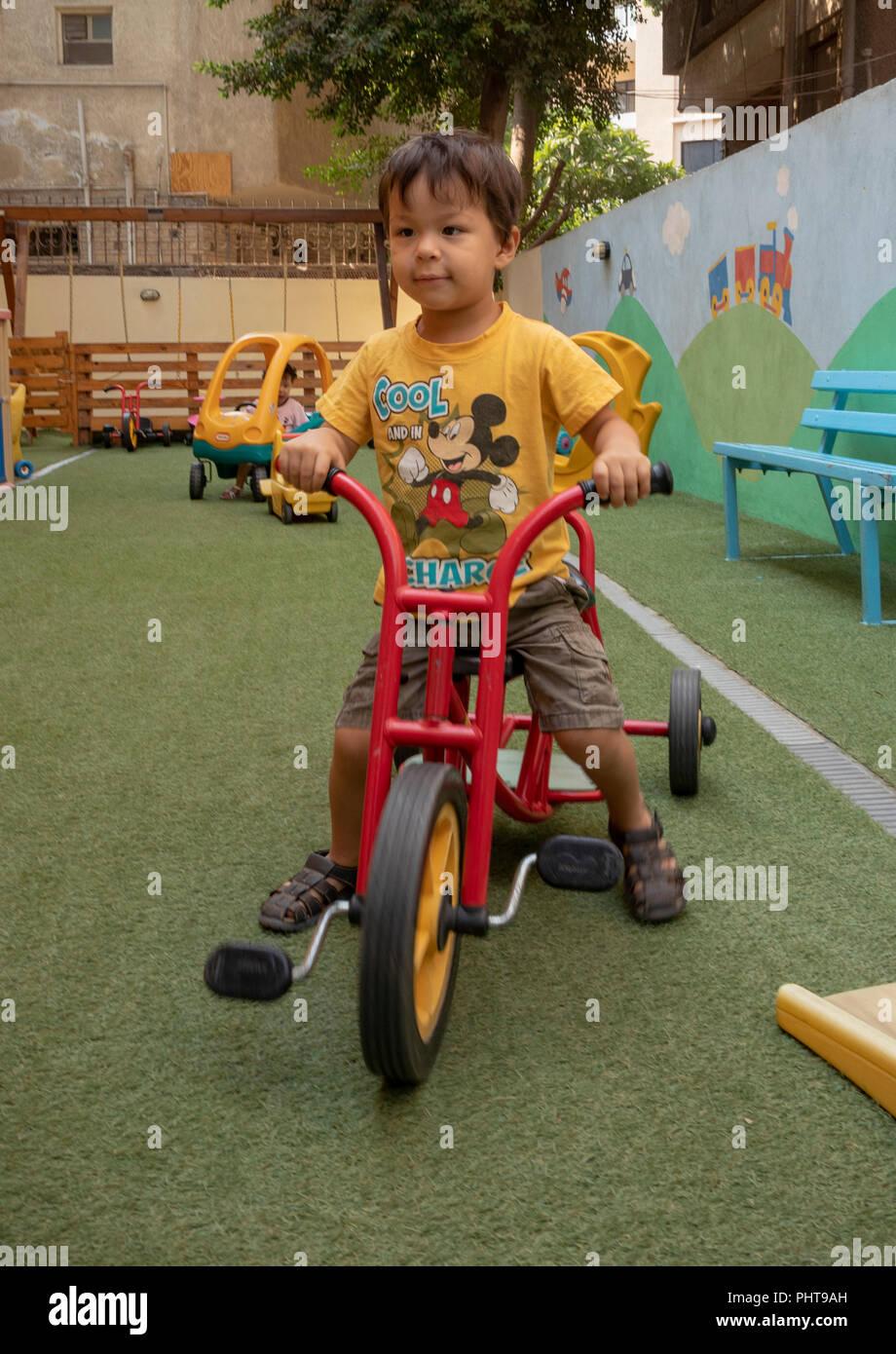 Bambino in età prescolare, il Cairo, Egitto Immagini Stock