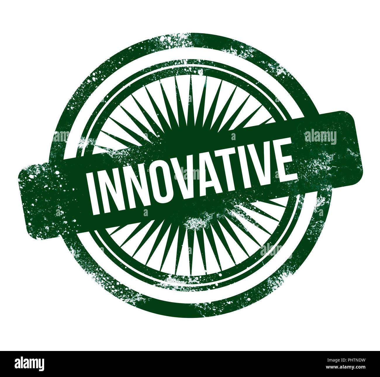 Innovativi - green grunge timbro Immagini Stock