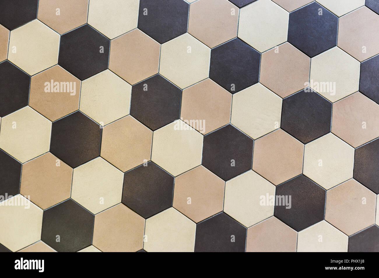 Piastrelle esagonali fonoassorbenti in fibra di legno