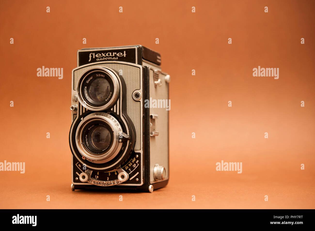 Flexaret Automat TLR Fotocamera Immagini Stock