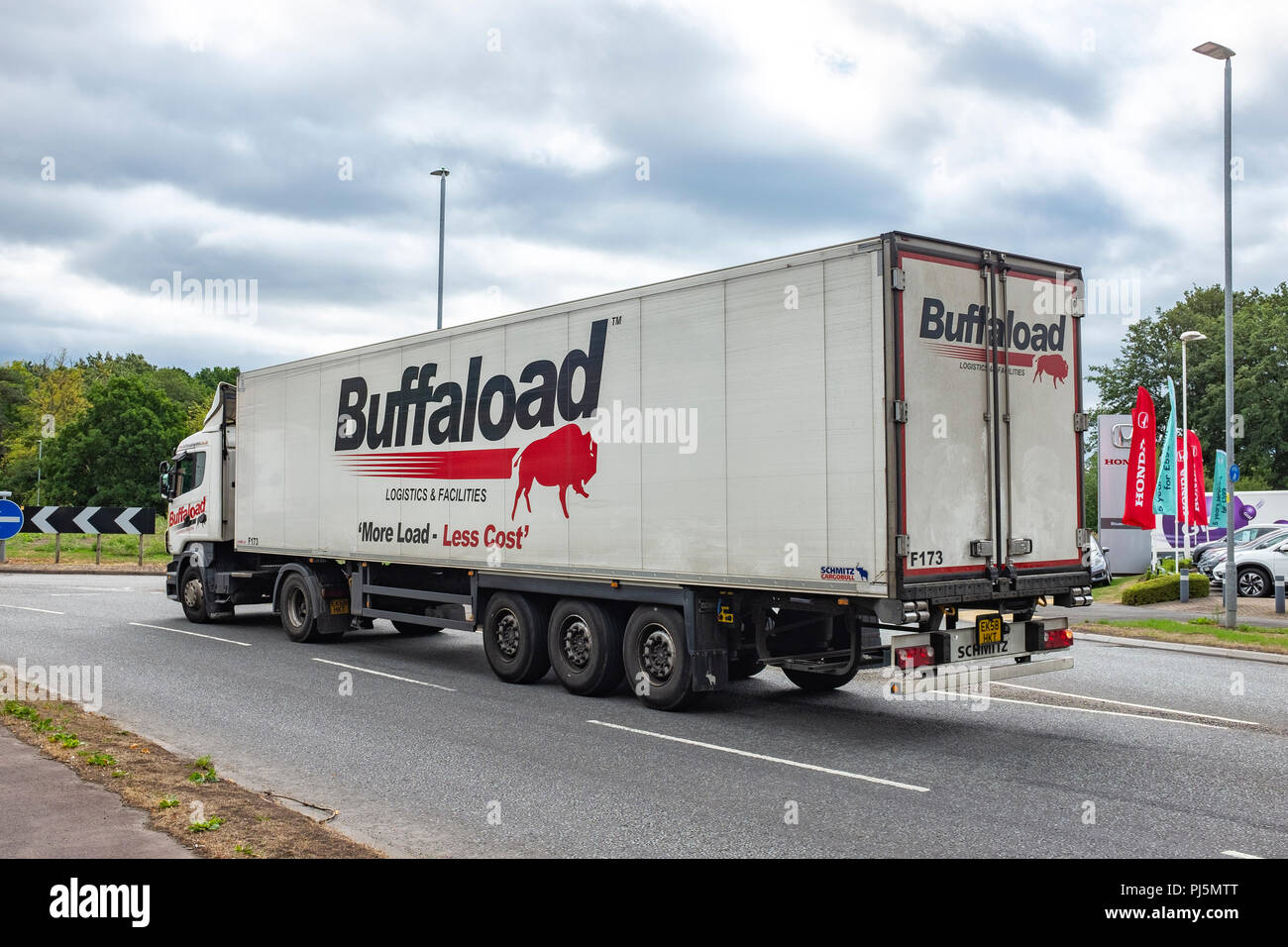 Logistica Buffaload autoarticolato in Cheshre Crewe Regno Unito Immagini Stock