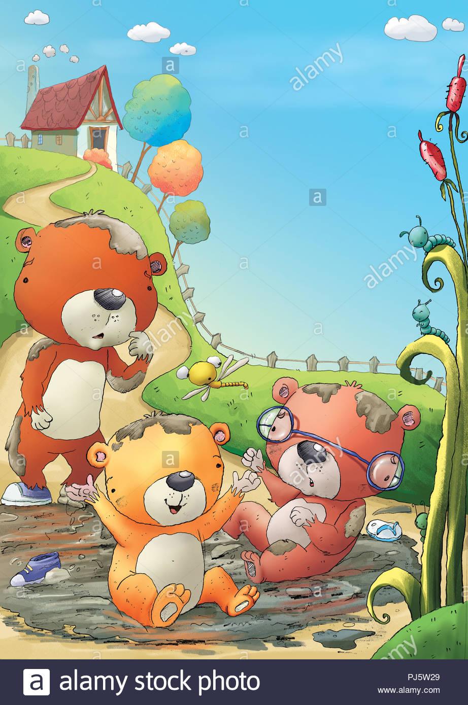 Tre piccolo orso illustrazione foto & immagine stock: 217717649 alamy