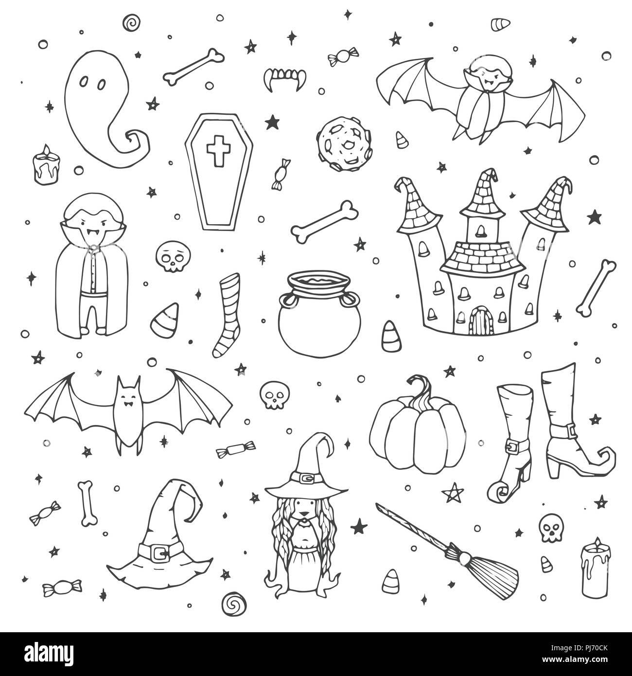 Vettore set di Halloween con zucche 361c59716d05