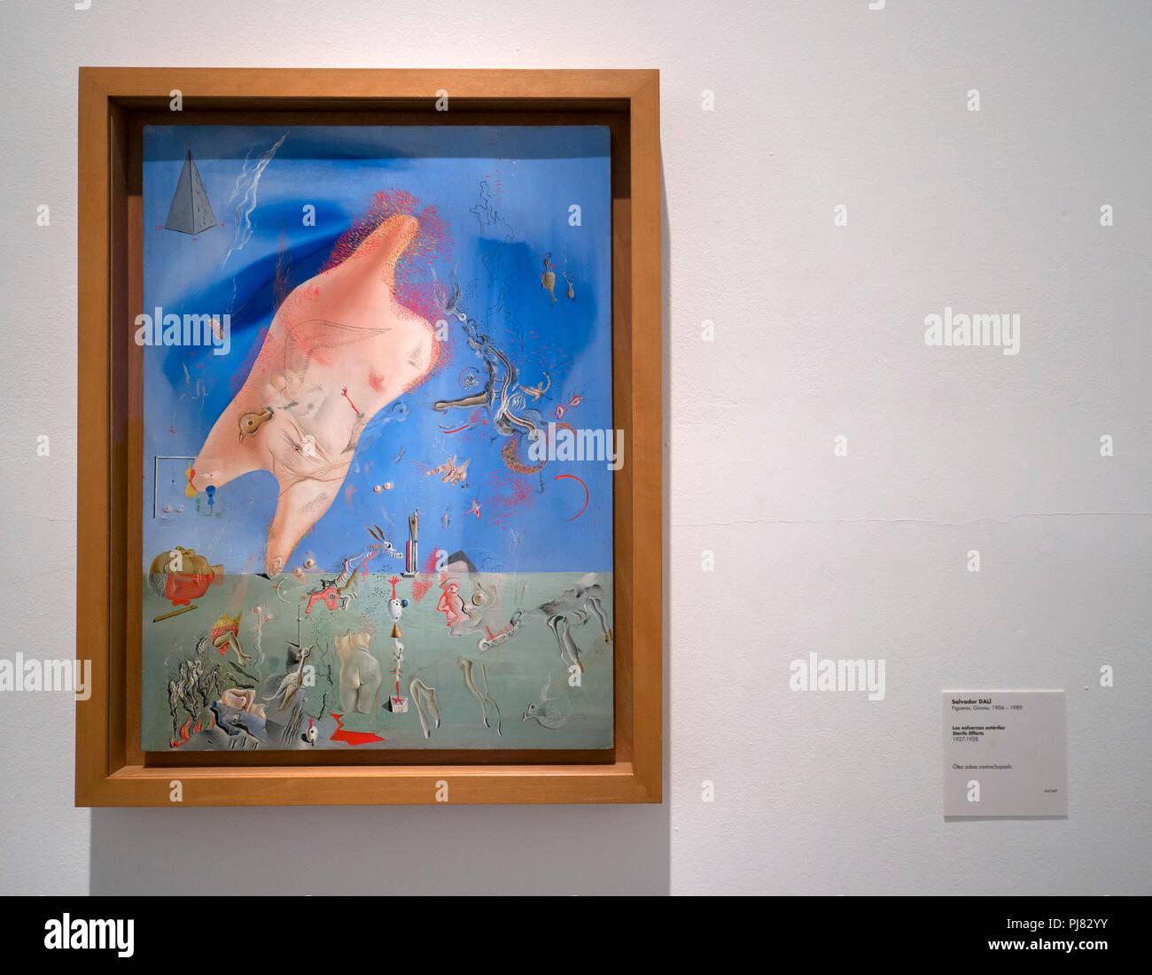Salvador dalí los estériles esfuerzos museo reina sofía madrid españa immagini stock