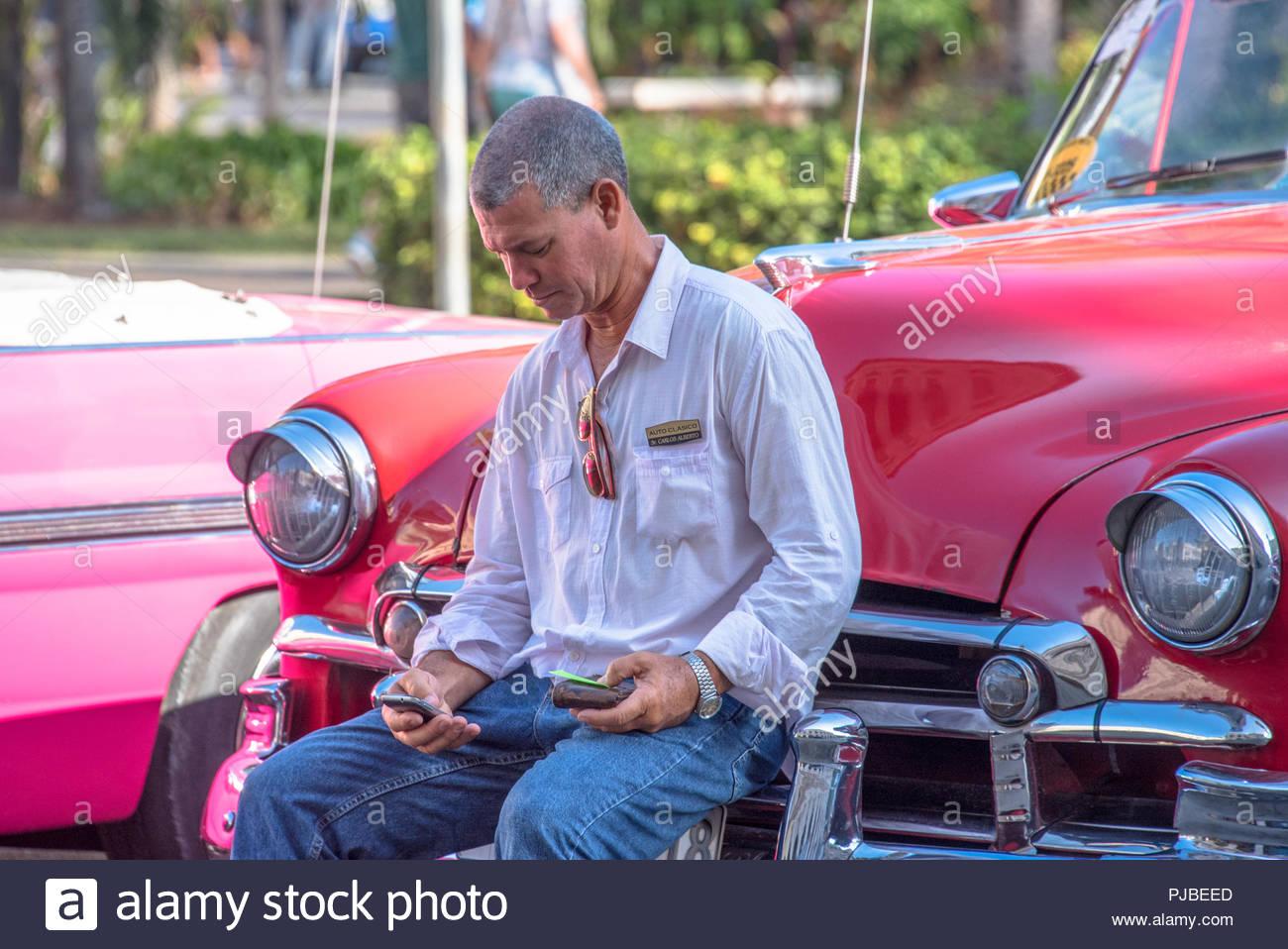 Salotto Old America.Cuba Turismo Old Vintage Classic American Cars A L Avana E
