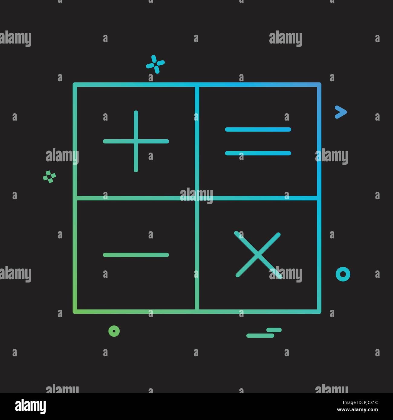 Calcolatrice matematica icona disegno vettoriale Immagini Stock