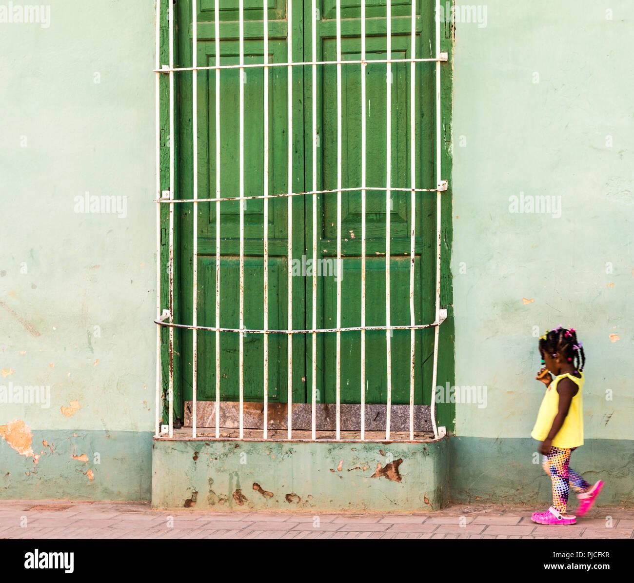 Una tipica vista in Trinidad di Cuba Immagini Stock