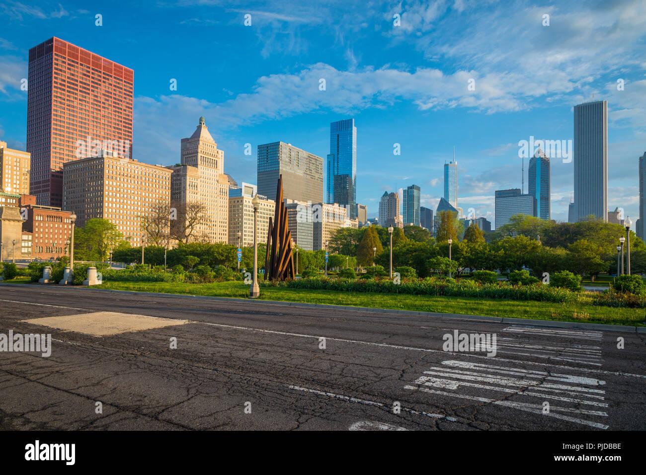 Chicago è una città negli Stati Uniti stato dell'Illinois, è la terza città più popolosa degli Stati Uniti. Immagini Stock