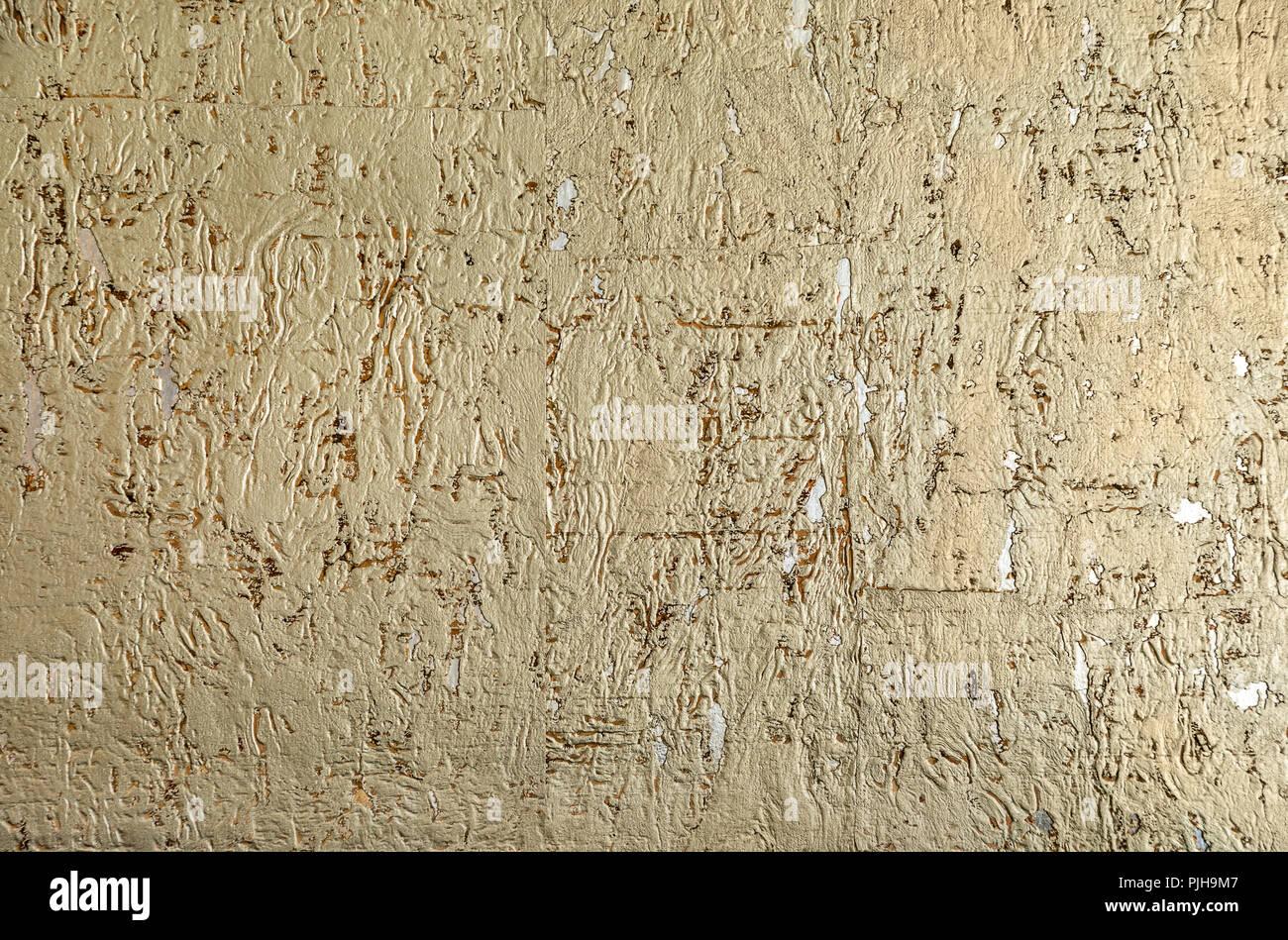 Parete Doro : La texture della parete doro. sfondo foto & immagine stock