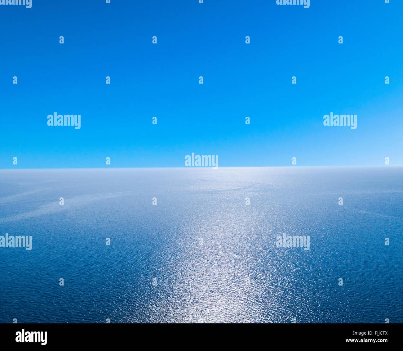 Vista Aerea Di Un Mare Azzurro Sfondo Acqua E Sole Riflessioni