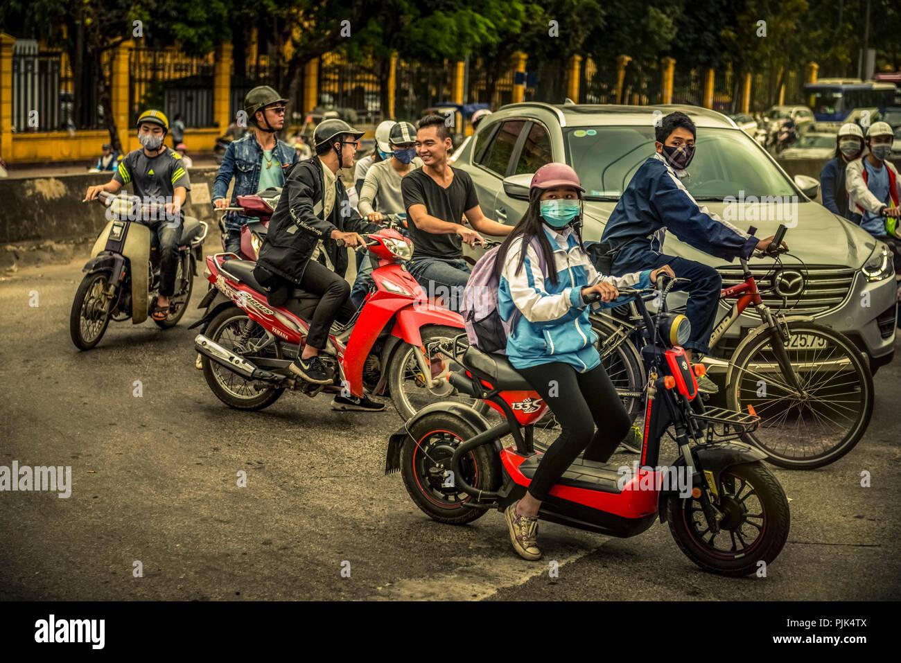 Asia, Vietnam, Hanoi, trasporto, trasporto mezzi di trasporto Immagini Stock