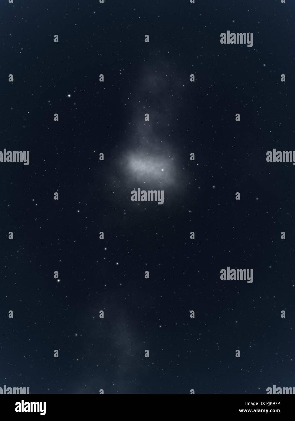 L' immagine di un grande sfondo stelle Foto Stock