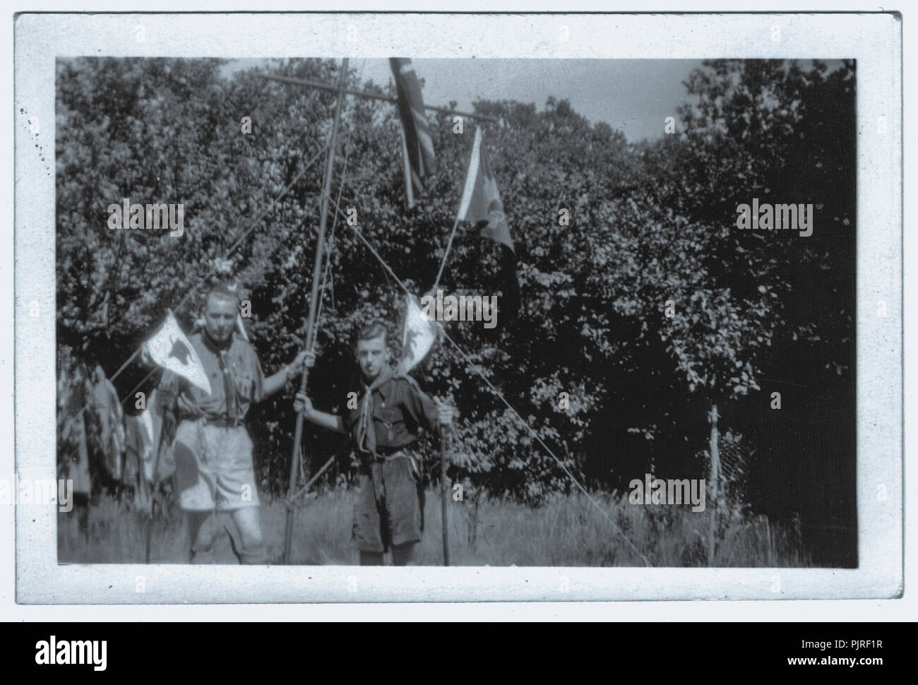 5° World Scout Jamboree, svoltasi a Bloemendaal Vogelenzang Holland, Paesi Bassi,1937 Immagini Stock