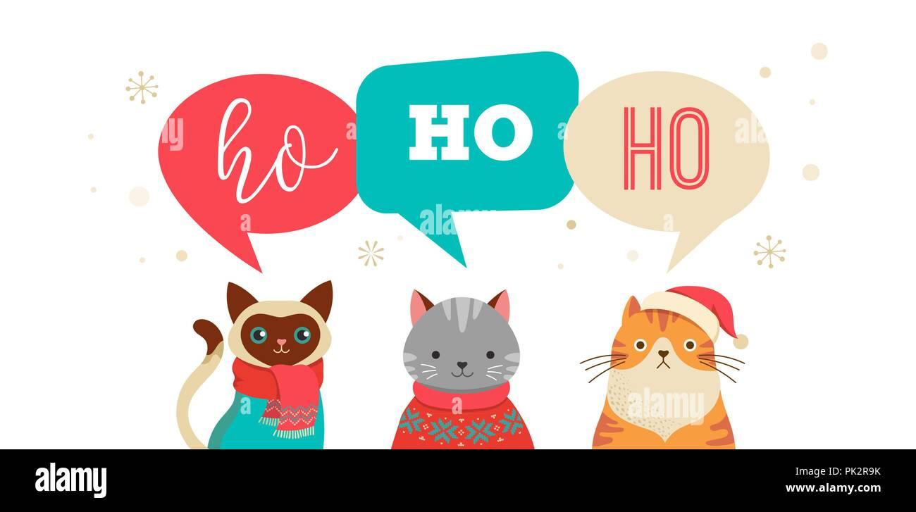 Messaggi Di Buon Natale Simpatici.Buon Natale Messaggio Di Saluto Banner Con Simpatici Personaggi
