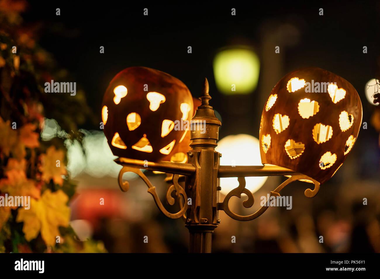 Vacanze di illuminazione elettrica strada lampada decorata con