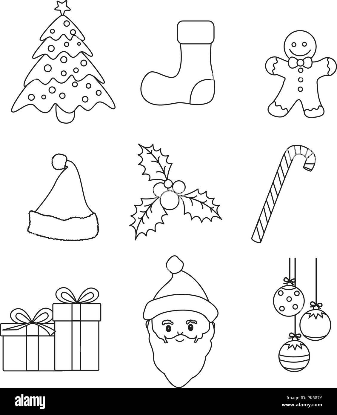 Grafica Di Natale Lineart Raccolta Per Bambini Libro Da