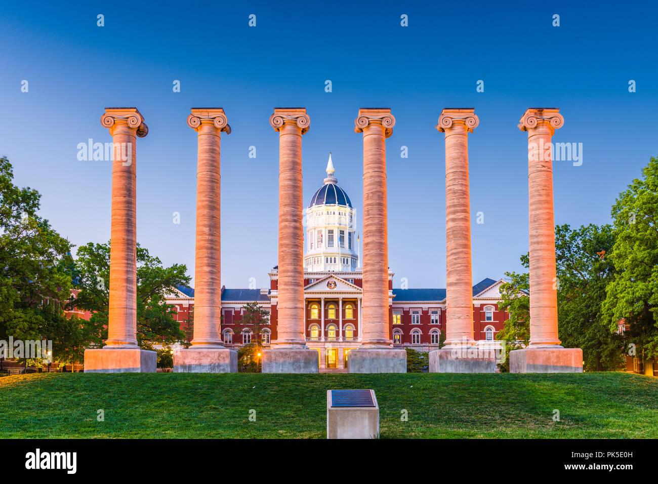La Columbia, Missouri, Stati Uniti d'America presso l'Università del Missouri. Immagini Stock