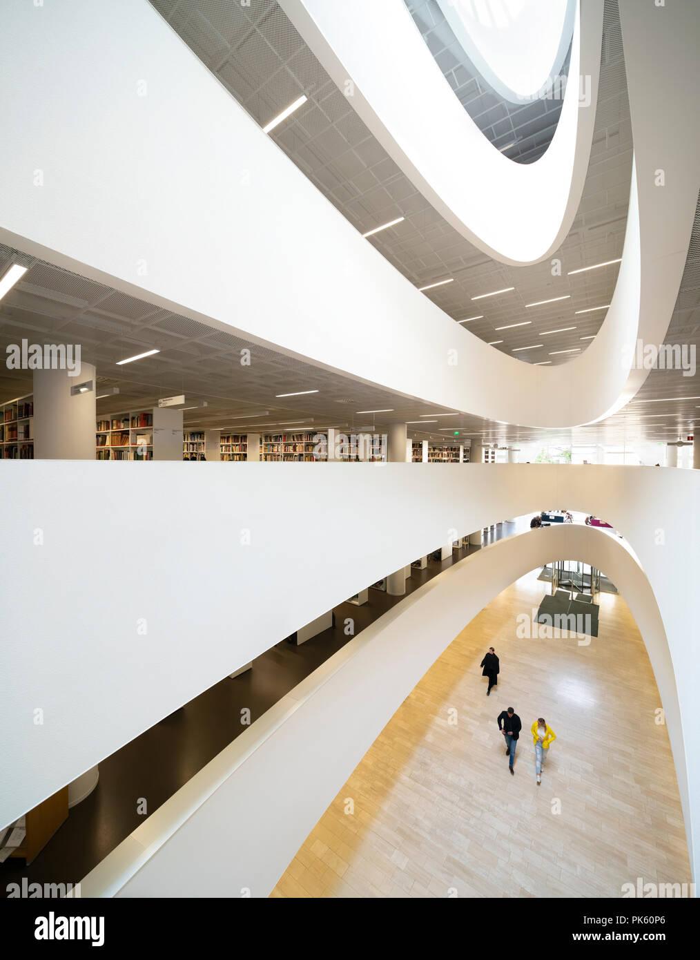 Kaisa House, Università di Helsinki Libreria Principale, Helsingin yliopiston pääkirjasto, Helsinki Finlandia Foto Stock