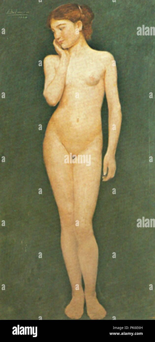 Belmiro de Almeida - Adolescente 1904. Immagini Stock