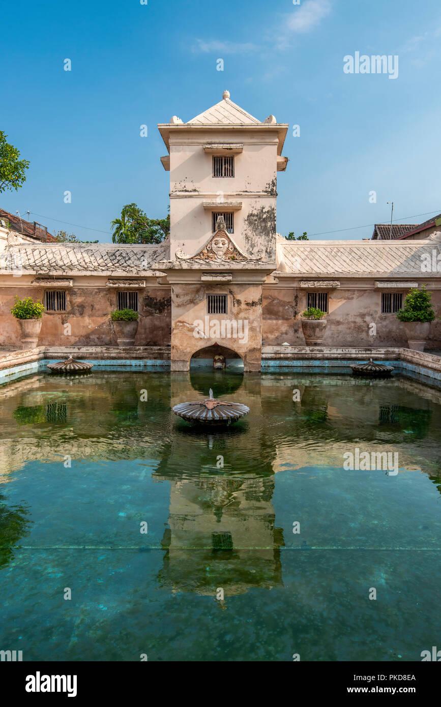 Il complesso balneare di Taman Sari castello d'acqua, Yogyakarta, Java, Indonesia Immagini Stock