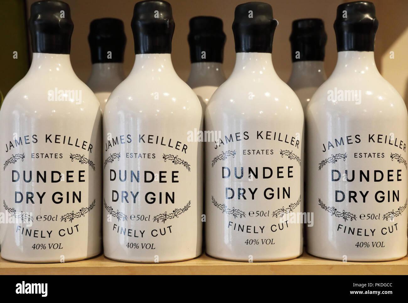 James Keiller estates Dundee dry Gin per la vendita, in Scozia, Regno Unito Foto Stock