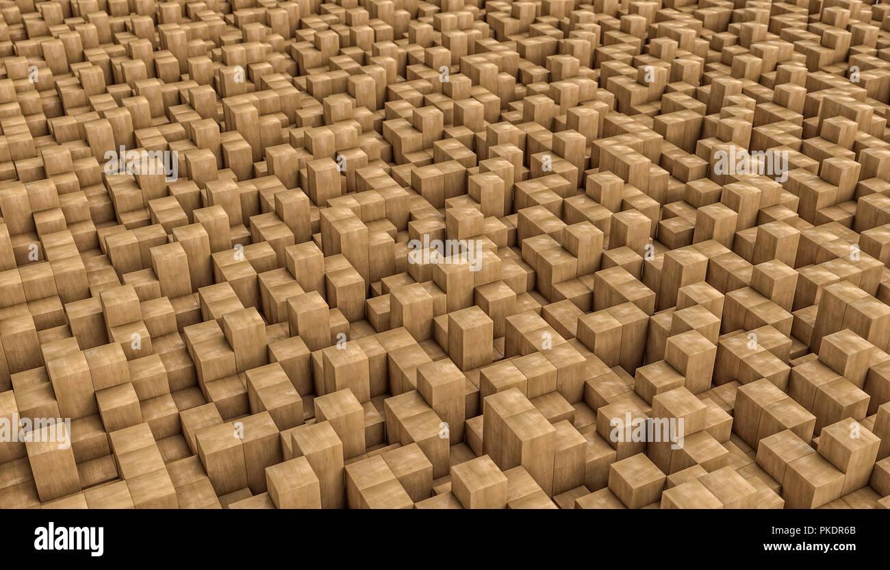 Mosaico in legno 3D rendering immagine Foto & Immagine Stock ...