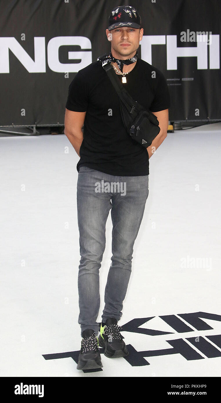 Londra, UK, 12 settembre 2018. Joey Essex assiste il Re dei ladri premiere del film a Londra Foto Stock