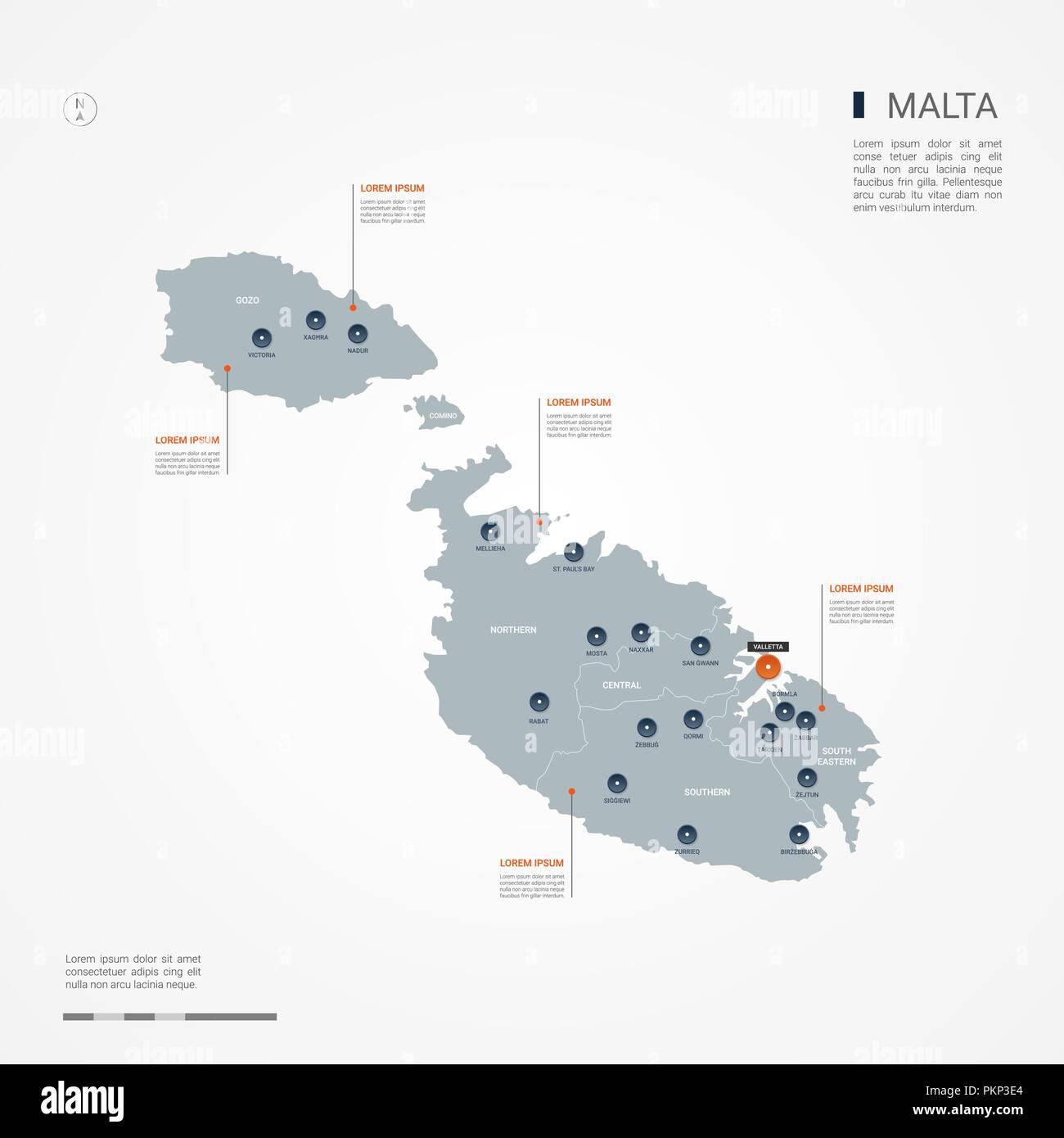 Cartina Di Malta Da Stampare.Malta Map Immagini E Fotos Stock Alamy