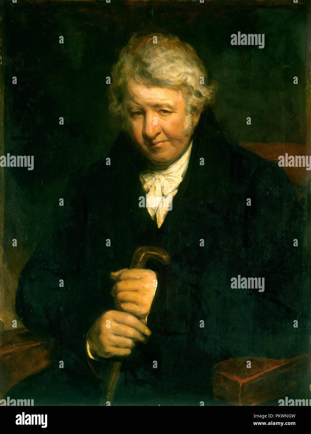 Il sig. Tucker di Yeovil. Data: c. 1800/1820. Dimensioni: complessivo: 91,3 x 71,4 cm (35 15/16 x 28 1/8 in.) incorniciato: 106,7 x 86,4 cm (42 x 34 in.). Medium: olio su tela. Museo: National Gallery of Art di Washington DC. Autore: British del XIX secolo. Immagini Stock
