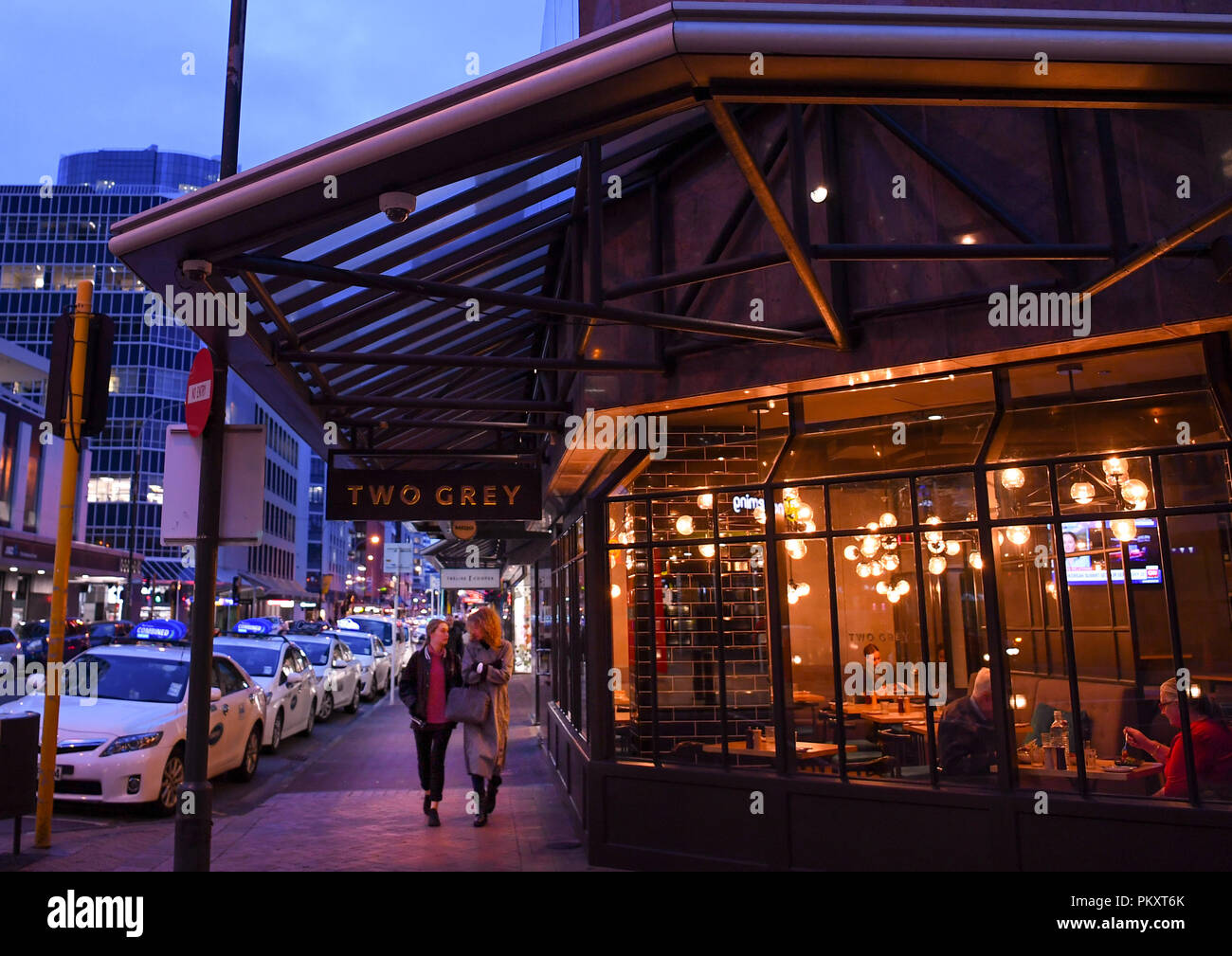 """Wellington. Decimo Sep, 2018. Foto scattata il 7 settembre 10, 2018 mostra la Willis Street a Wellington, Nuova Zelanda. Wellington è stata nominata la Nuova Zelanda la migliore destinazione nelle ultime Lonely Planet guida, con la città con marchio """"una delle più incredibili capitali del piccolo nel mondo"""". Credito: Guo Lei/Xinhua/Alamy Live News Immagini Stock"""