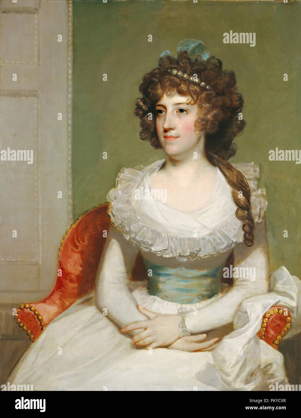 Matilda Caroline Cruger. Data: c. 1795. Dimensioni: complessivo: 91,7 x 71,6 cm (36 1/8 x 28 3/16 in.) incorniciato: 123,2 x 102,2 x 7 cm (48 1/2 x 40 1/4 x 2 3/4 in.). Medium: olio su tela. Museo: National Gallery of Art di Washington DC. Autore: American del XVIII secolo. Immagini Stock