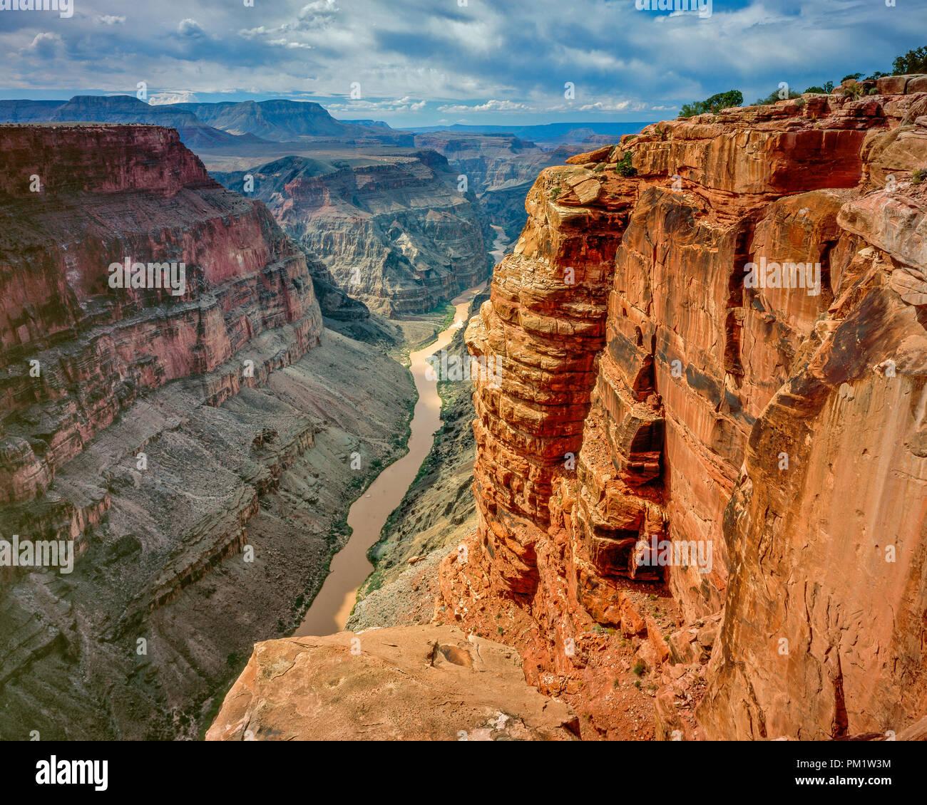 Il fiume Colorado, Toroweap, il Parco Nazionale del Grand Canyon, Arizona Immagini Stock