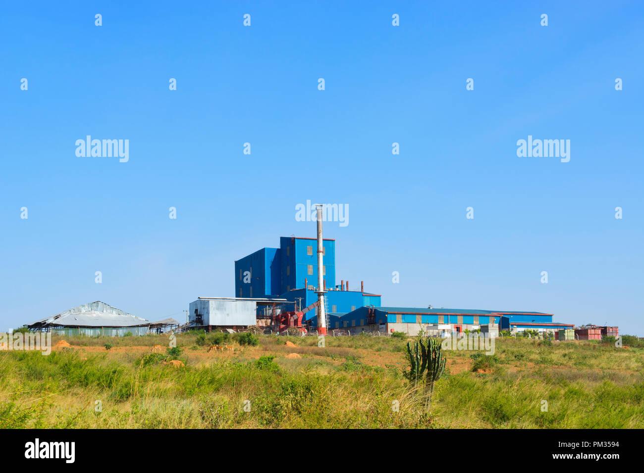 Trasformazione dei prodotti lattiero-caseari sito di impianto, Centro Ankole Regione, Uganda, Africa orientale Immagini Stock