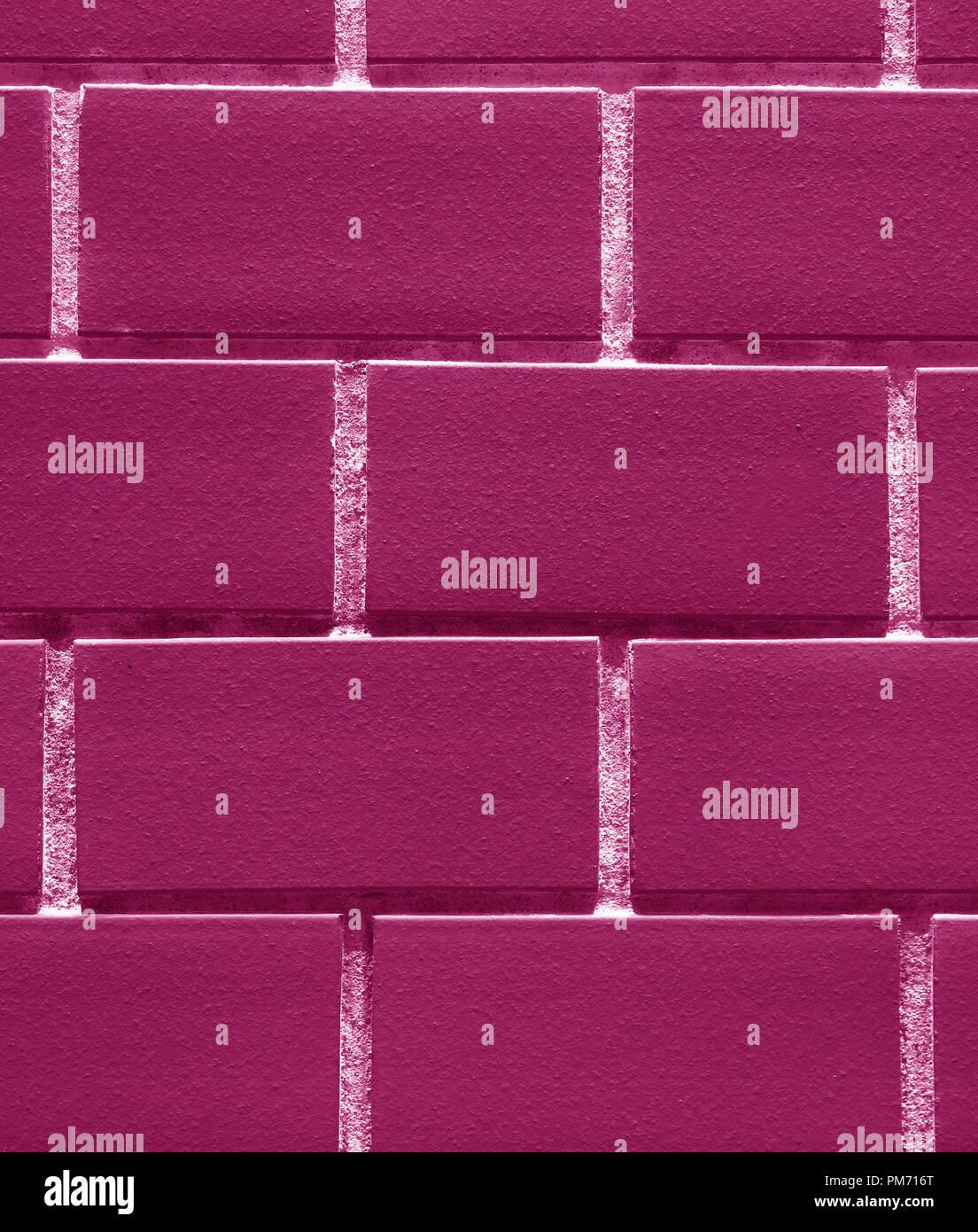 Foto Verticale Del Muro In Mattoni In Rosso Porpora O Magenta Il