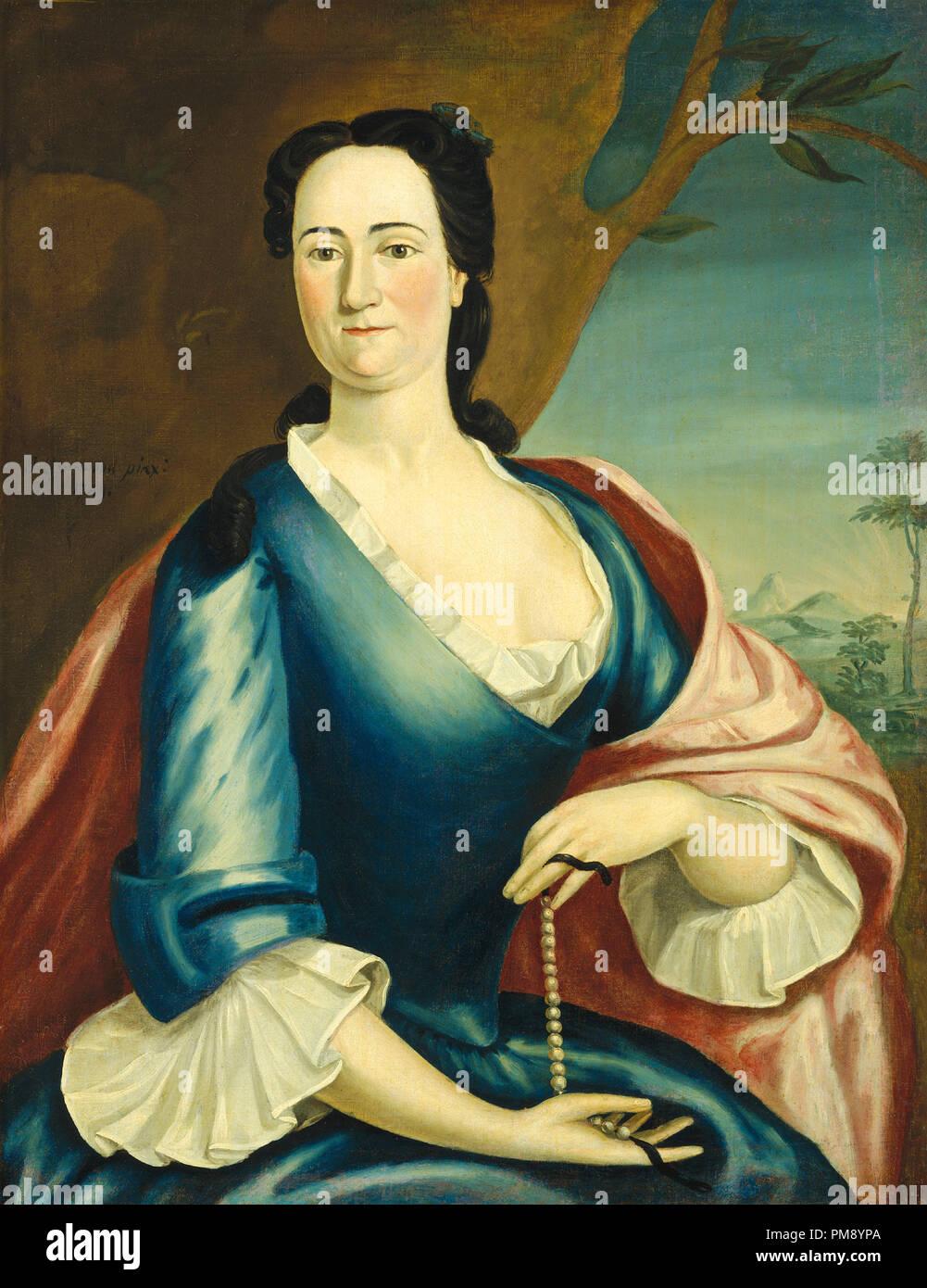 Elizabeth Fulford gallese. Data: 1749. Dimensioni: complessivo: 91,4 x 71,1 cm (36 x 28 in.) incorniciato: 106,7 x 86,3 x 5 cm (42 x 34 x 1 15/16 in.). Medium: olio su tela. Museo: National Gallery of Art di Washington DC. Autore: John Greenwood. Immagini Stock