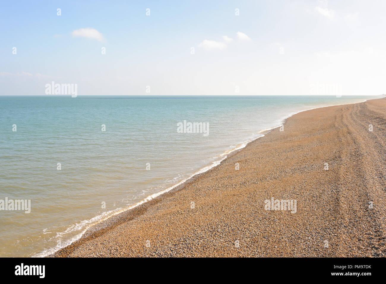 Spiaggia di trattativa, Kent, Regno Unito Immagini Stock