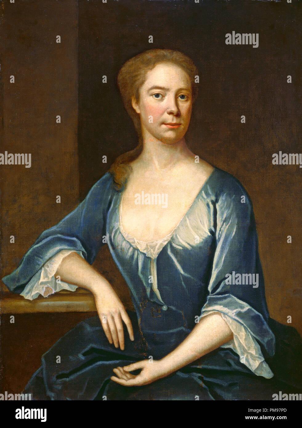 Ritratto di una donna. Data: c. 1715/1730, forse vicino a 1725. Dimensioni: complessivo: 91,4 x 71,1 cm (36 x 28 in.) incorniciato: 105,4 x 85,4 x 7,6 cm (41 1/2 x 33 5/8 x 3 in.). Medium: olio su tela. Museo: National Gallery of Art di Washington DC. Autore: Maria Verelst. Immagini Stock