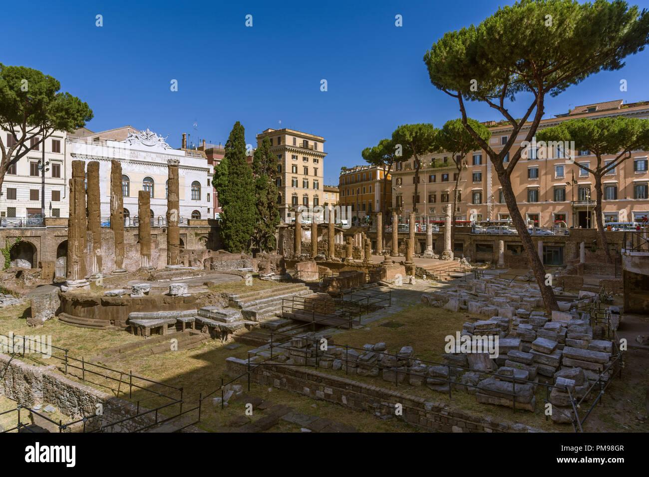 Largo di Torre Argentina, Roma, Italia Immagini Stock
