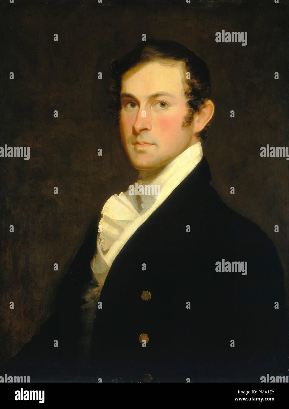 Augusto Fielding Hawkins. Data: c. 1820. Dimensioni: complessivo: 71 x 53,5 cm (27 15/16 x 21 1/16 in.) incorniciato: 91,1 x 78,1 cm (35 7/8 x 30 3/4 in.). Medium: Olio su legno. Museo: National Gallery of Art di Washington DC. Autore: Matthew Harris Jouett. Immagini Stock