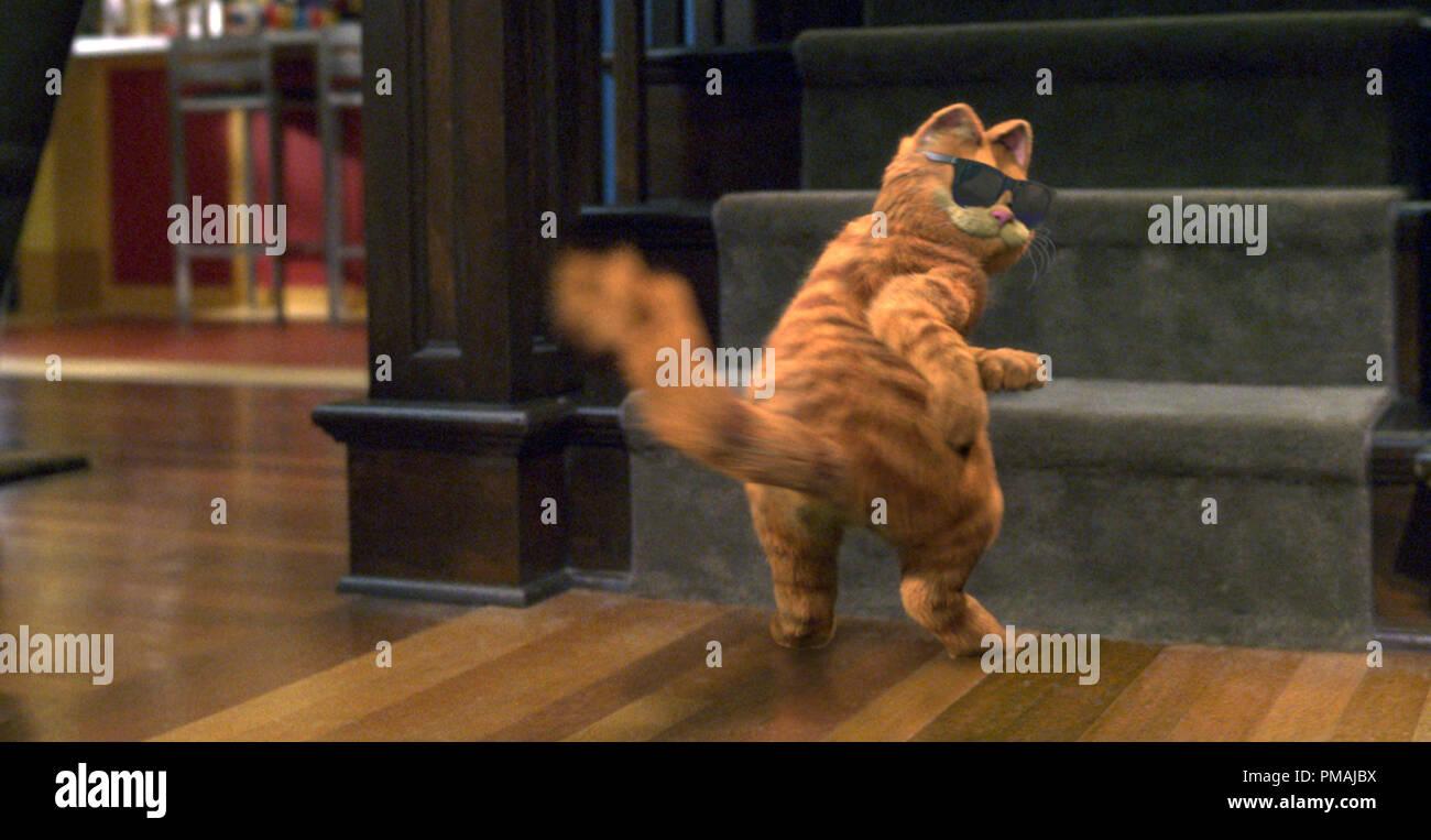 """Garfield, America più cool cat, prende il tempo di boogie. """"Garfield il film' (2004) Immagini Stock"""