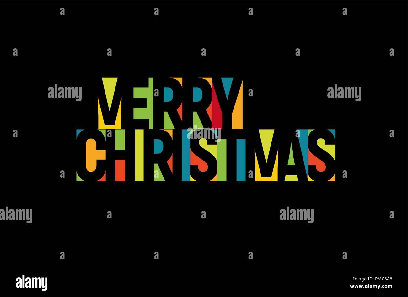 Natale In Latino.Buon Natale Lettere Colorate Modello Di Pagina Di