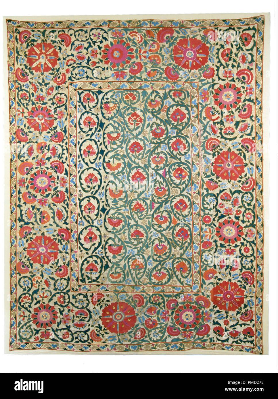 Per il montaggio a parete. Data/Periodo: 1800 - 1899. Tessile. Altezza: 263 mm (10,35 in). Autore: Sconosciuto. Immagini Stock