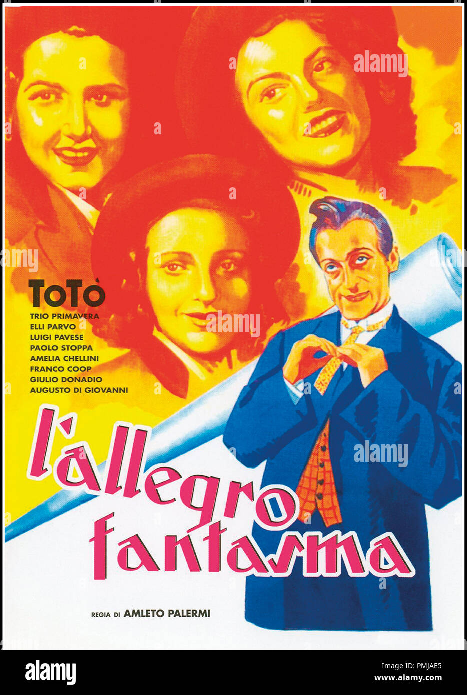 Prod DB © Fono Roma - Produzione Capitani Film / DR L'allegro fantasma de Amleto Palermi 1941 ITA. affiche italienne avec Toto Immagini Stock