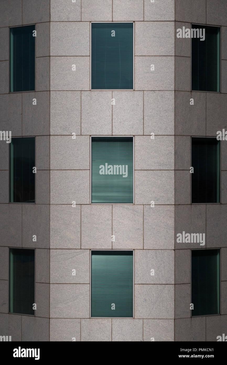Architettura dettaglio nel blocco di ufficio, Birmingham Alabama Immagini Stock