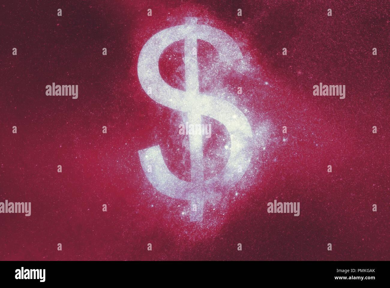 Il simbolo del dollaro, simbolo del dollaro. Sfondo astratto Immagini Stock