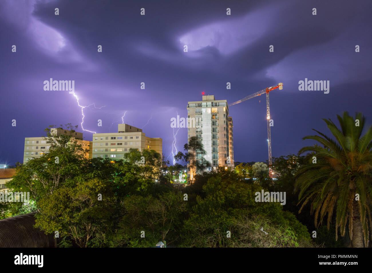 Tempesta notte Immagini Stock