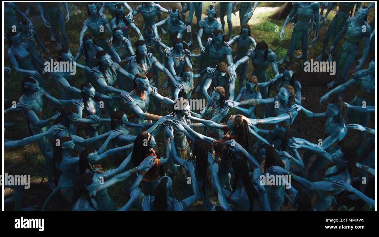 Prod DB © ventesimo Century-Fox Film Corporation - Giant Studios - Lightstorm Entertainment / DR AVATAR de James Cameron 2009 film USA en 3-D, 3D, fantascienza, autres titoli: Avatar: Un IMAX 3D Experience (USA) (versione IMAX)Progetto 880 (USA) (titolo di lavoro) Immagini Stock