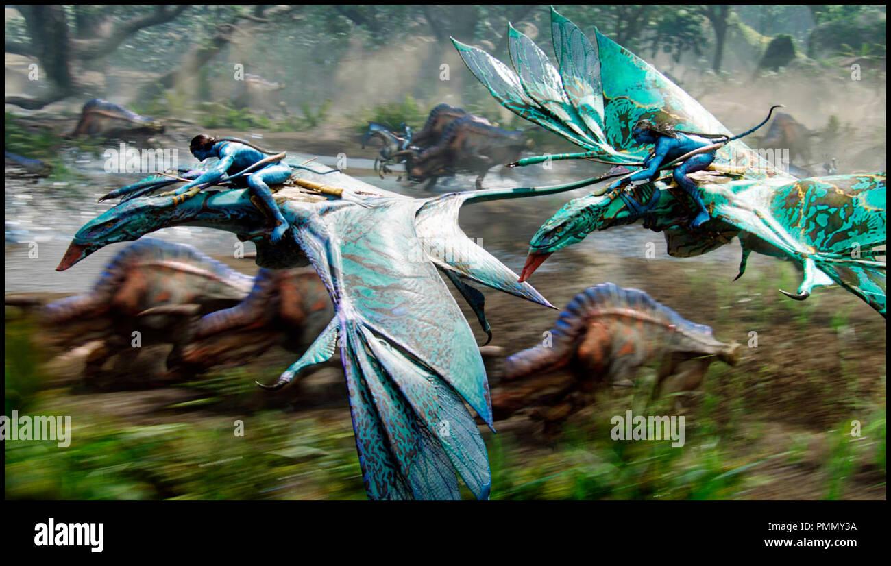 Prod DB © ventesimo Century-Fox Film Corporation - Giant Studios - Lightstorm Entertainment / DR AVATAR de James Cameron 2009 film USA en 3-D, 3D, fantascienza, extra terrestre, banshee autres titoli: Avatar: Un IMAX 3D Experience (USA) (versione IMAX)Progetto 880 (USA) (titolo di lavoro) Immagini Stock
