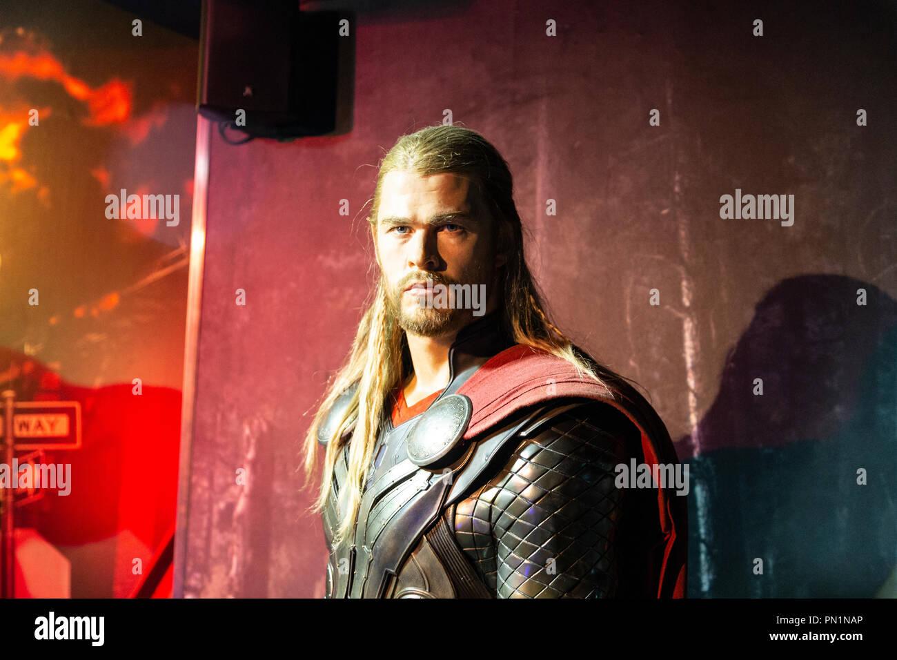 Museo Delle Cere Amsterdam.Chris Hemsworth Come Thor Marvel Sezione Il Museo Delle Cere Di