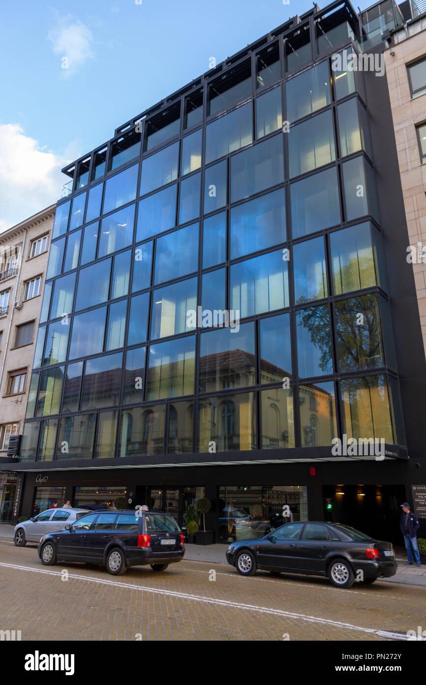 Il senso di 5 stelle Hotel a Sofia, Bulgaria. Immagini Stock